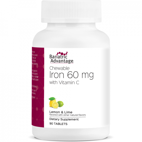 Lemon Lime Chewable Iron 60mg